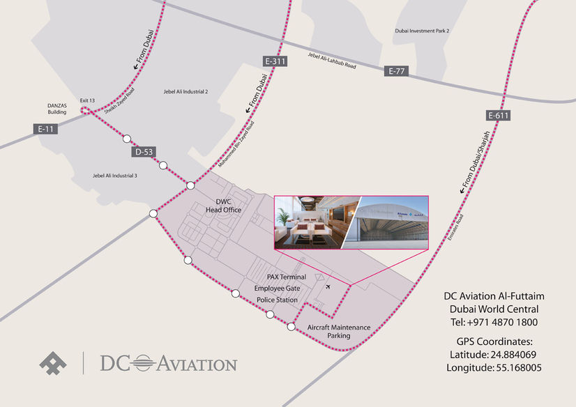 DC Aviation Al-Futtaim Map